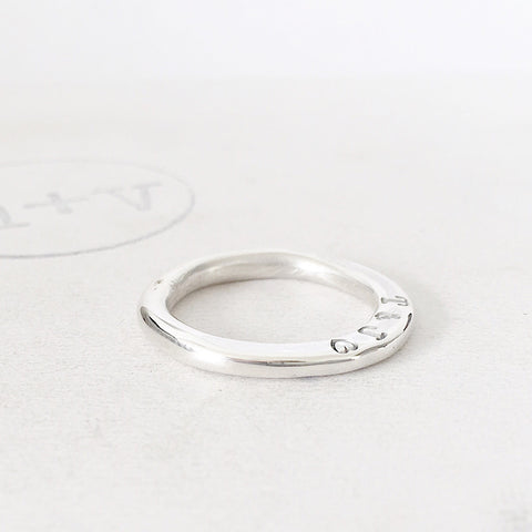 Halo Abstract Signet Ring