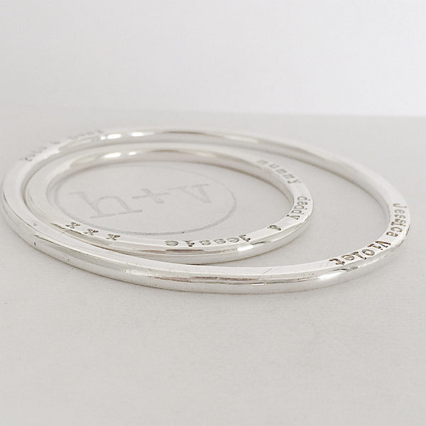 Organic Halo Girl's Bangle 4mm