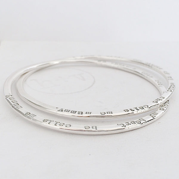 Organic Halo Interlinked Bangles ~ starting from