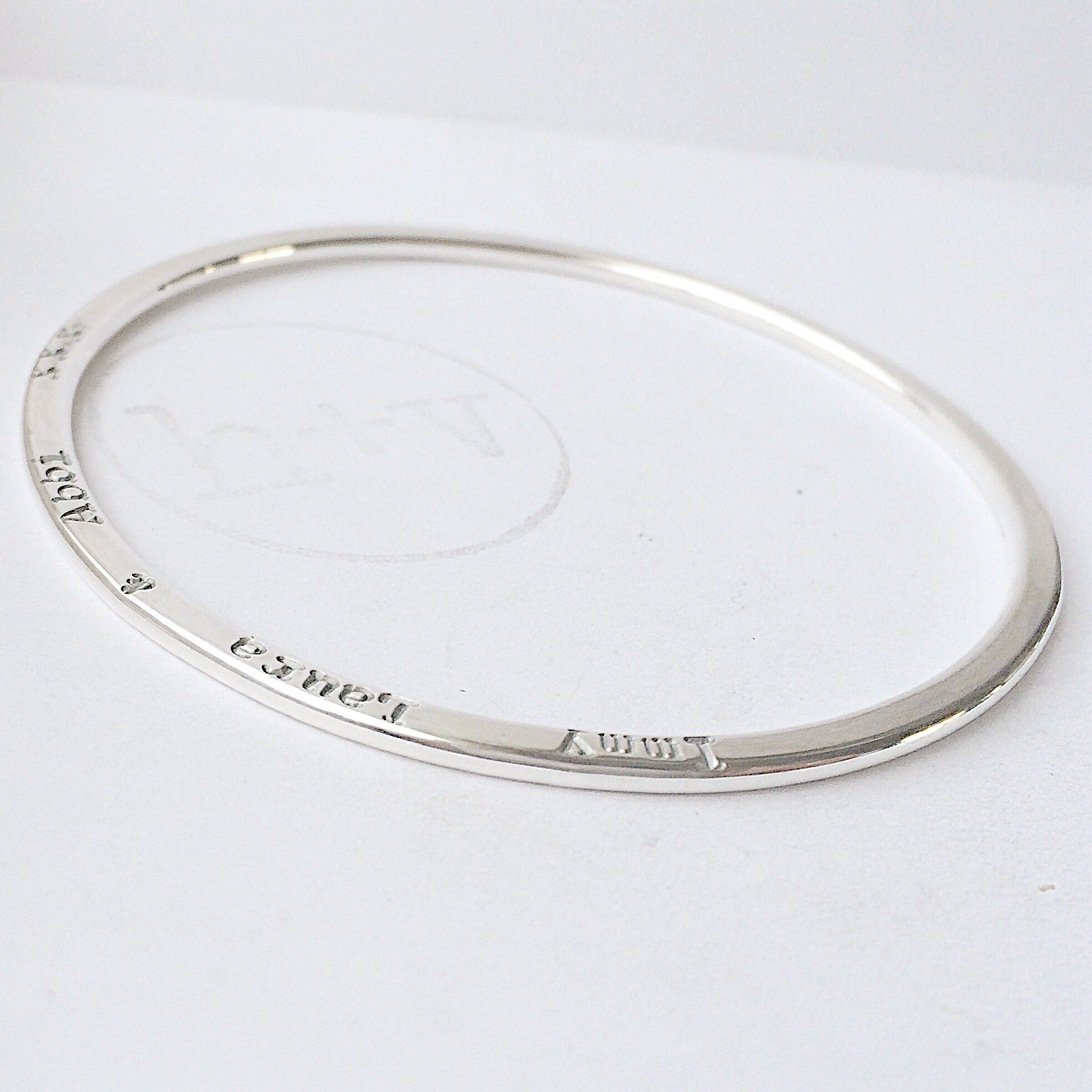 Organic Halo Bangle 3mm