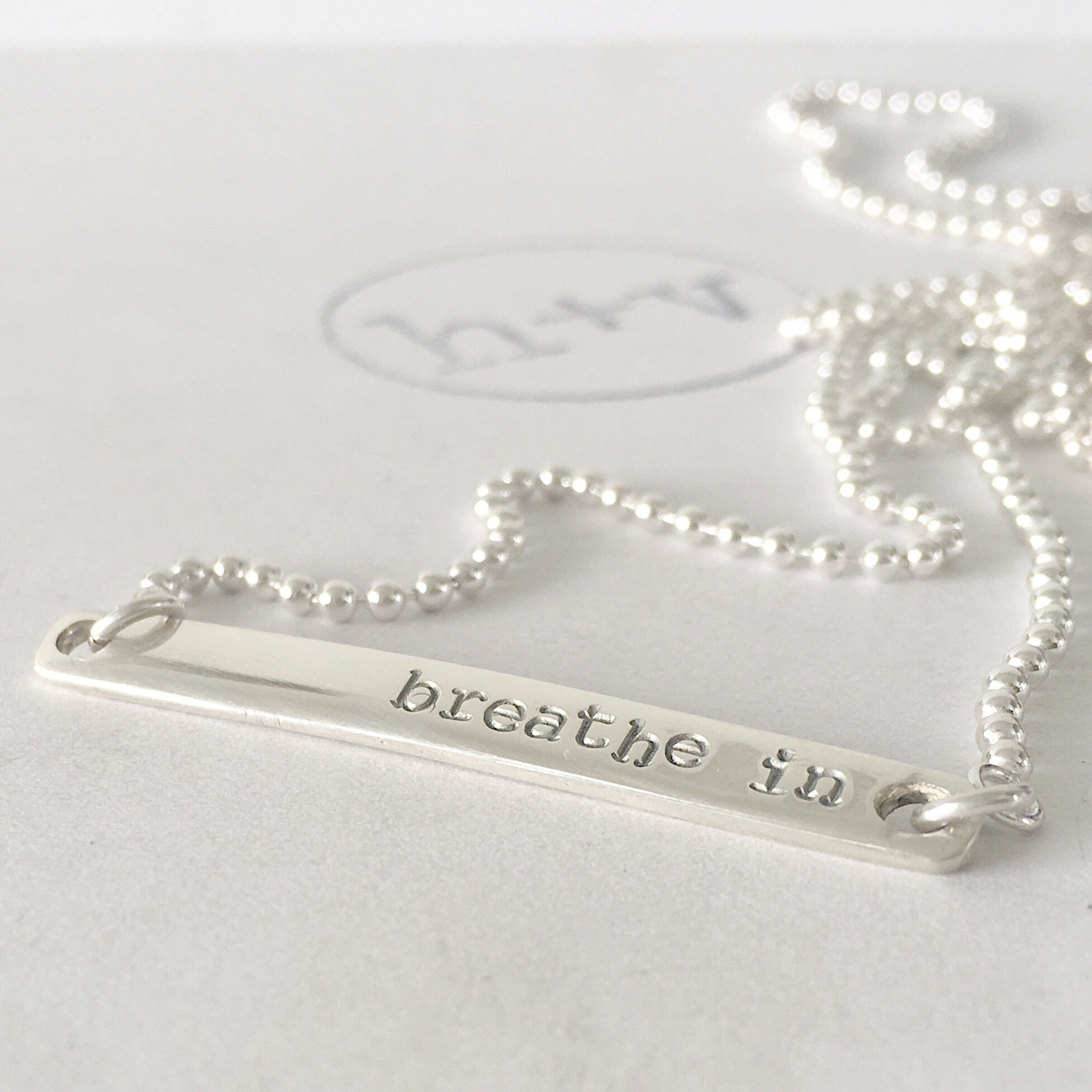 Imperfect Bar Nameplate Necklace Long