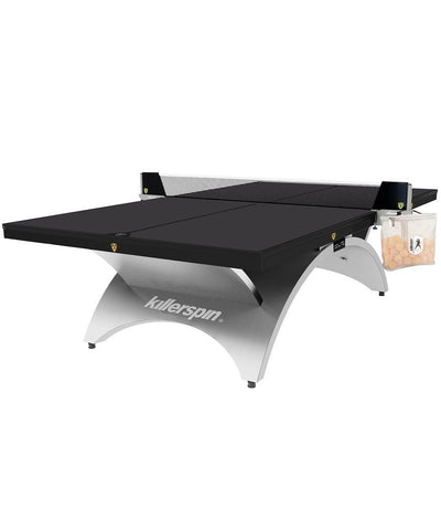 Platinum Black Ping Pong Table Game Room