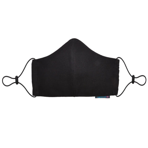 Maskeraid Black Canvas Reusable Cotton Face Mask