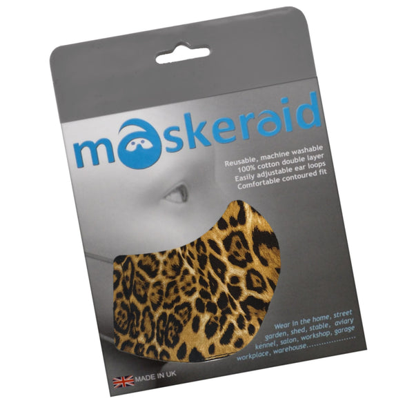 Maskeraid Animal Print Reusable Cotton Face Mask