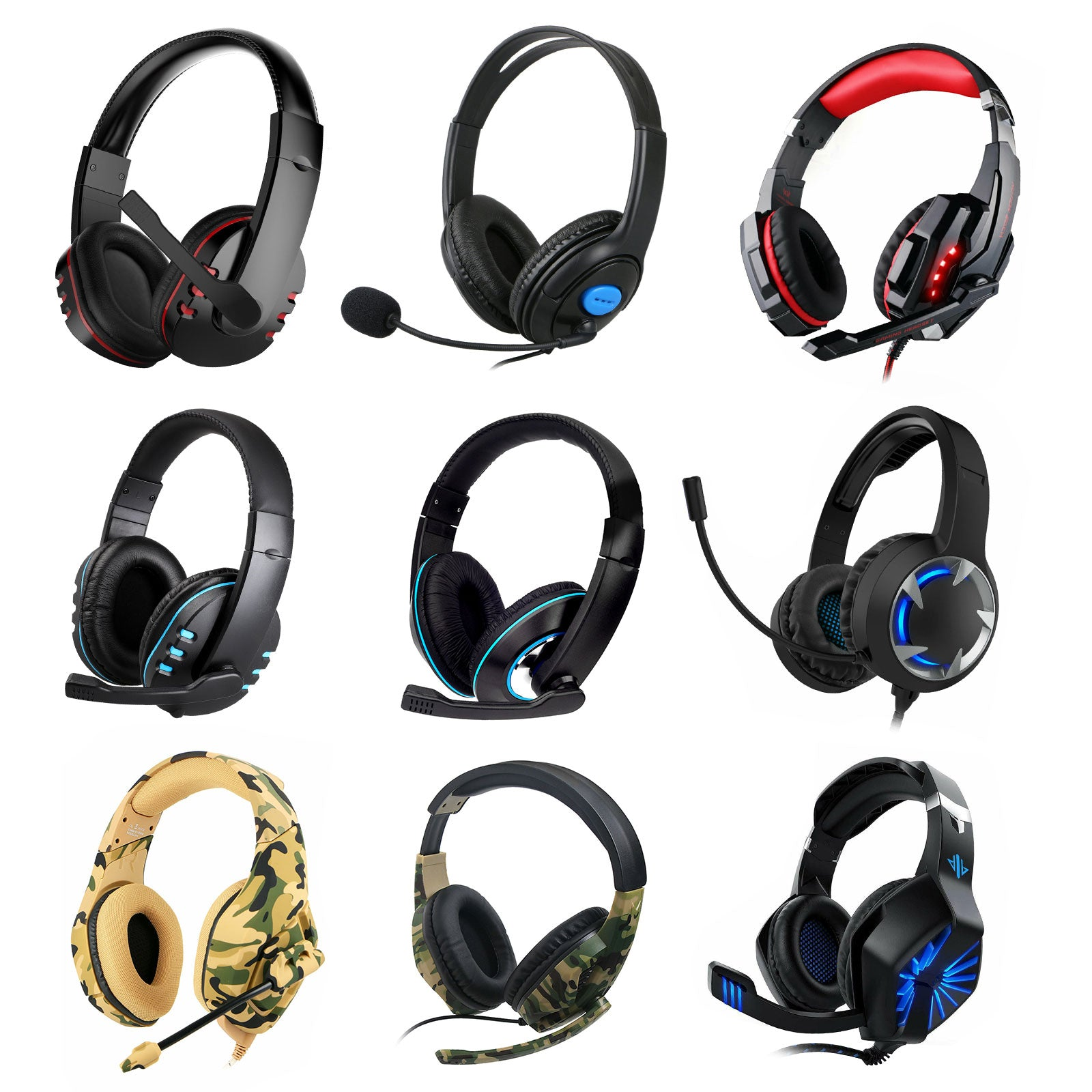 Pro Gamer Headset for PS4 PlayStation 4 Xbox One & 360 PC Computer Headphones US