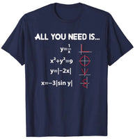 All You Need Is Love - Math Equation T-Shirt for Math Lovers - Teetaho