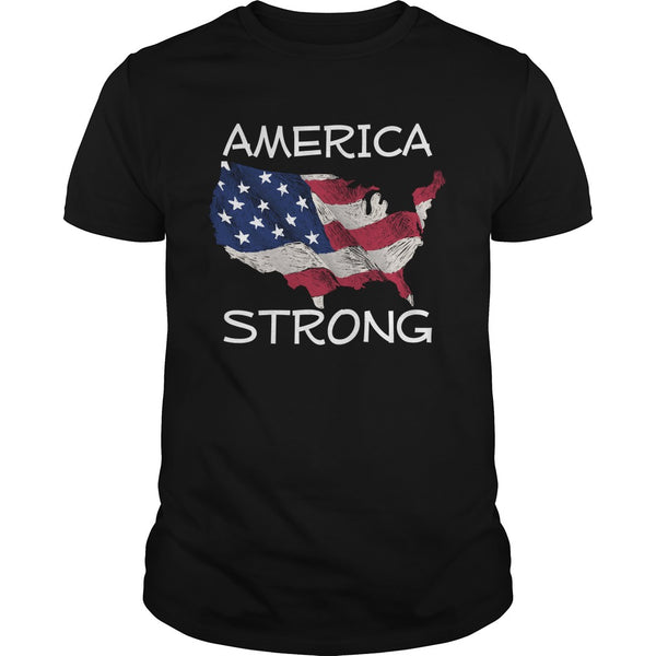 America Strong Patriotic America First T-shirt
