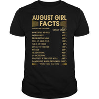 August Girl Facts T Shirt