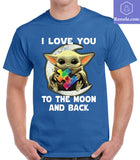 Baby Yoda I Love You To The Moon And Back T-Shirt - Teetaho