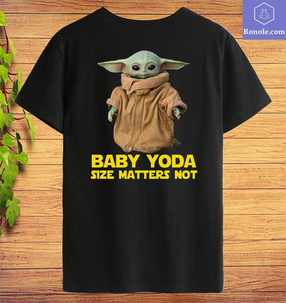 Baby Yoda The Mandalorian Size Matters Not T-Shirt - Teetaho