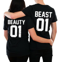 Beauty Beast T-shirts Funny Couples Matching Gift Him Her Valentine's Day - Teetaho