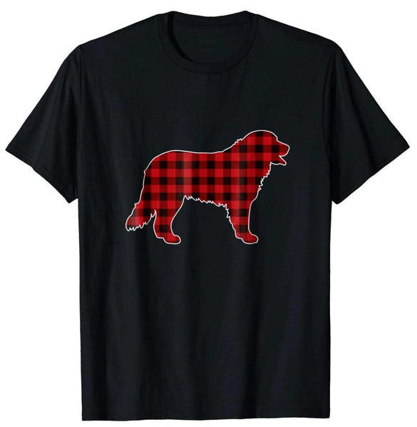 Bernese Mountain Dog Christmas T-Shirt Dog Buffalo Plaid Tee - Teetaho