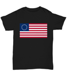 Betsy Ross American Flag USA T-Shirt 13 Stars Original Colonies top Gift - Teetaho