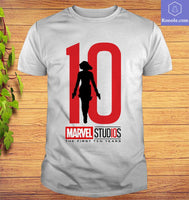 Black Widow Marvel Studios the First Ten Years T-Shirt - Teetaho