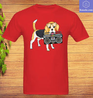 Boombox Beagle T-Shirt - Teetaho