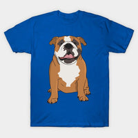 Bulldog sitting on T-Shirt - Teetaho