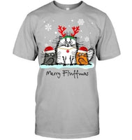 Cat Love Merry Fluffmas Christmas T-Shirt - Teetaho