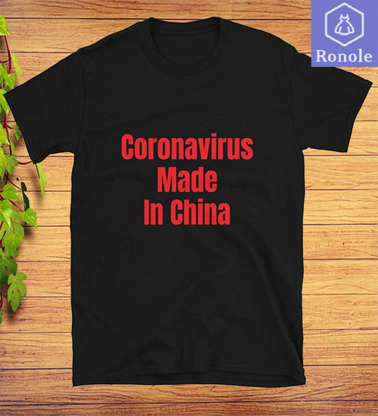 Coronavirus Made in China Short-Sleeve T-Shirt - Teetaho