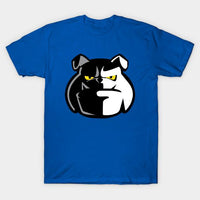 Face Bulldog Black White T-Shirt - Teetaho