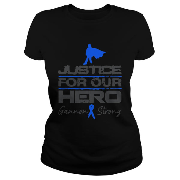 Gannon Strong Justice for Our Hero T-shirt