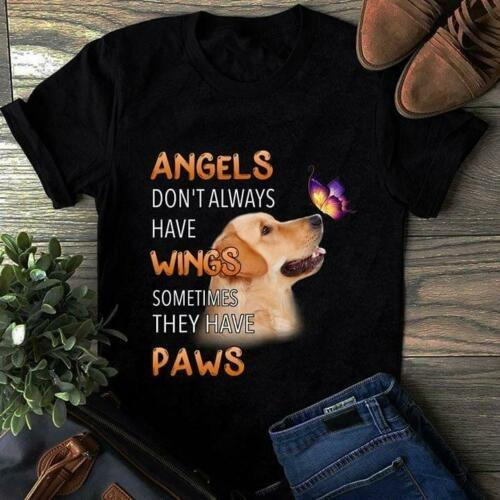 Golden Retriever Angels Don't Always Have Wings They Have Paws T-Shirt - Teetaho