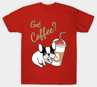 Got Coffee Cute French Bulldog Men Women T-shirt - Teetaho