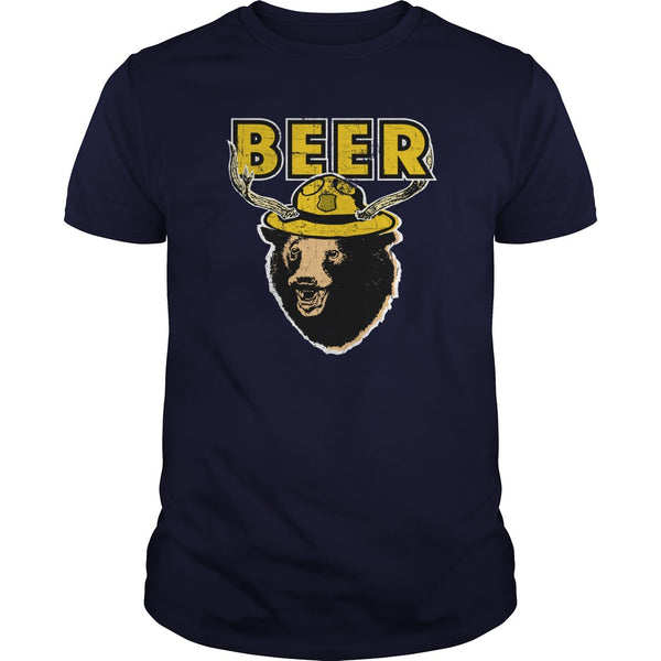 Great Smokey Mountains Bear Deer - Beer T-shirt