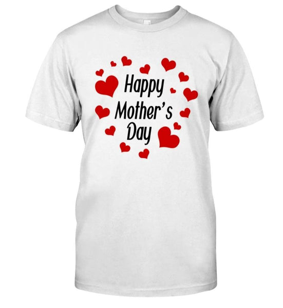 Happy Mothers Day Heart Round T-Shirt - Teetaho