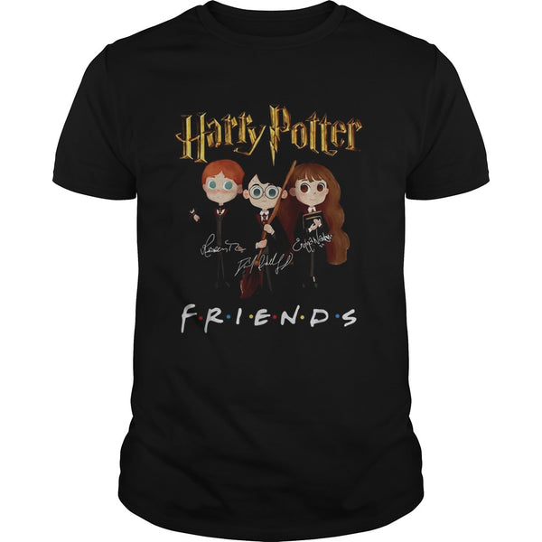 Harry Potter Friends Tv Show Signatures T Shirt