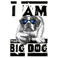 I Am the Big Dog Back Print T-shirt, Top Gifts for Dog Lovers, Animal Shirts, Pet Shirts, Birthday Gift - Teetaho