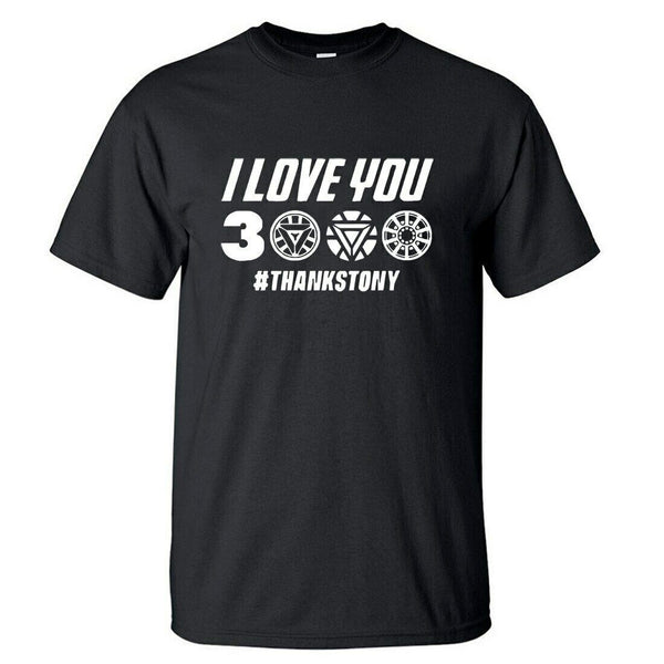 I Love You 3000 Times T shirt Men Superhero Iron Man Tony Stark T-Shirts - Teetaho