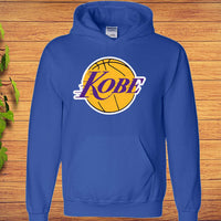 Kobe Bryant Los Angeles Lakers Black Mamba LOGO Hoodie - Teetaho