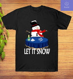 Let It Snow-Winter Holiday Season Santa Cocaine T-Shirt - Teetaho