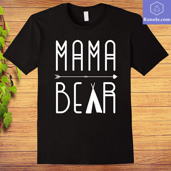 Mama Bear Mom T-shirt Mothers day - Teetaho