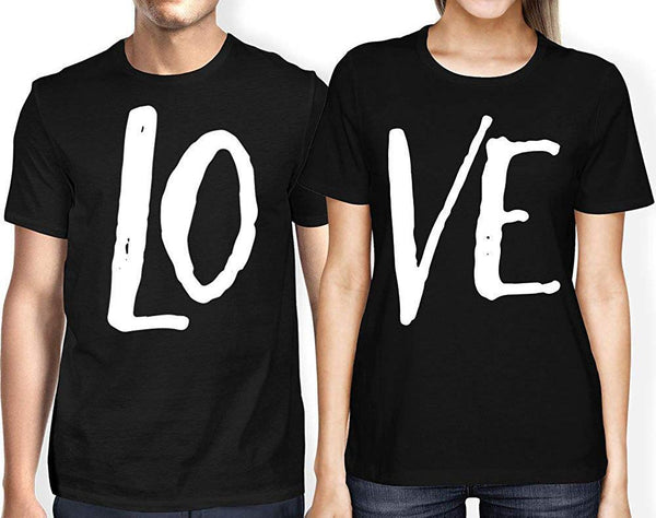 "Matching Couple Love ""LO-VE'"" Valentine's Day T-Shirt - Teetaho"
