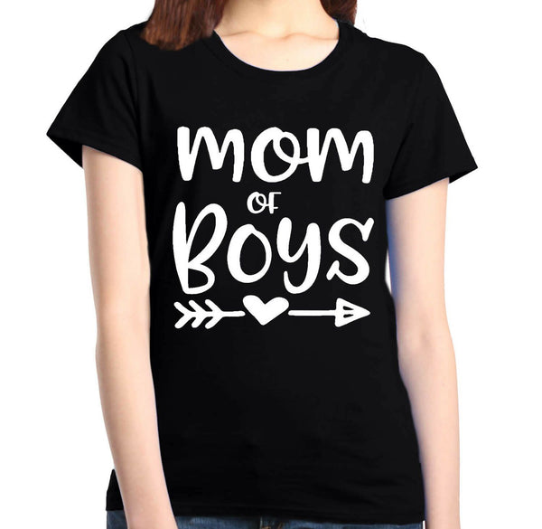 Mom of Boy Women's T-Shirt Mother's Day Family Love Mom Gift Shirts - Teetaho