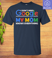 Mother's Day T-shirt I Don't Need Google My Mom Knows Everything Great Gift to Happy Mom - Teetaho