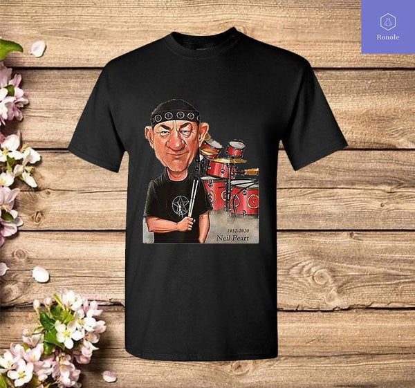 Neil Peart In Loving Memory Drummer Legend Cartoon RIP T-Shirt - Teetaho