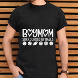 Official Boymom Surrounded by Balls T-shirt - Teetaho