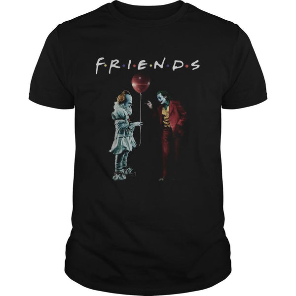 Pennywise with Joker Friends Tv Show T Shirt