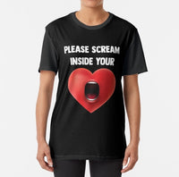 Please Scream Inside Your Heart Graphic T-Shirt