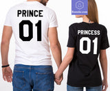 Princess 01 or Prince 01 T-Shirt Couple Gift for Valentine's Day - Teetaho