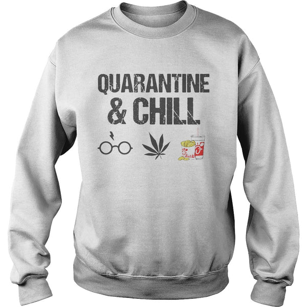 Quarantine and Chill Harry Potter Cannabis Chickfila Sweatshirt