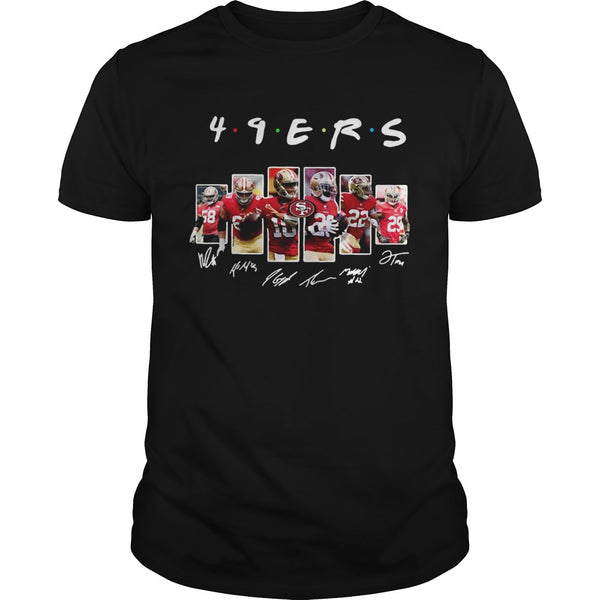 San Francisco 49ers Friends TV Show Signatures T shirt