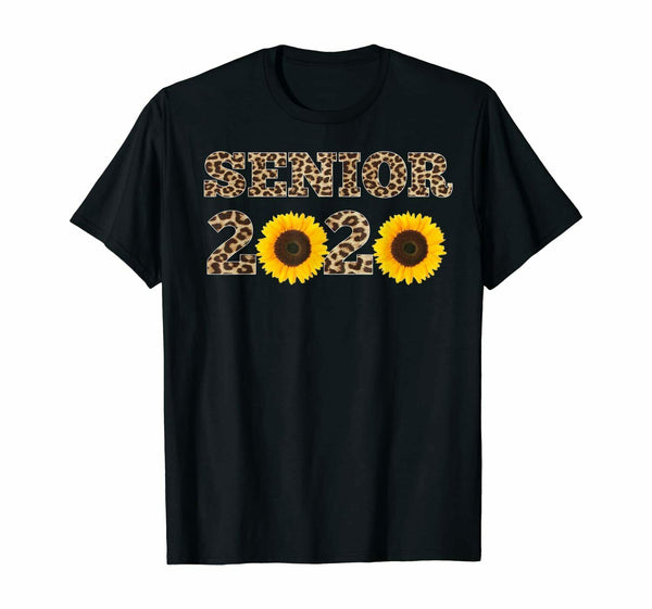 Senior2020 Leopard Sunflowers Class Of 2020 T-shirt