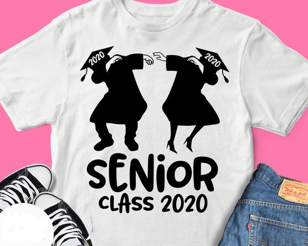 Senior Class 2020 Svg Design with Dabbing Graduate T shirt