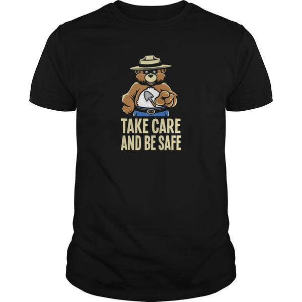 Take Care Smokey Bear Safety Care Bear Fire Psa Warning T shirt