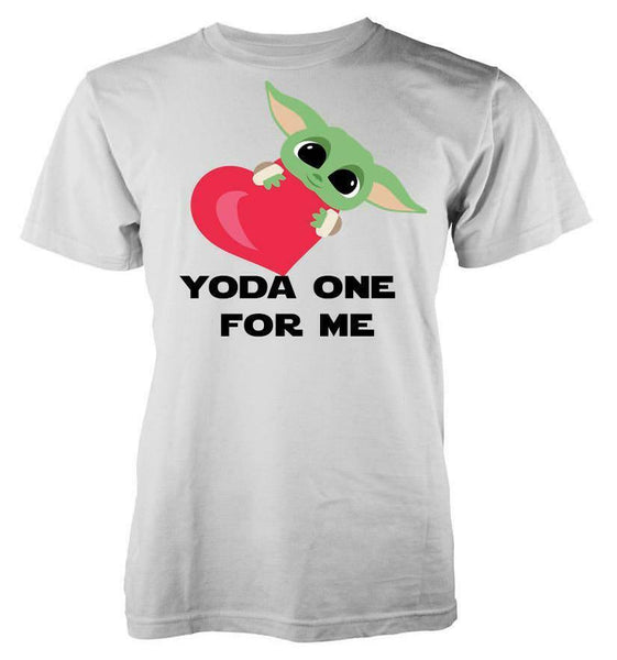 The Child Little Yoda Baby Valentine The One For Me Love Heart T-Shirt - Teetaho