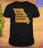 The Great State Of Kansas Trump T-Shirts - Teetaho