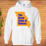 The Great State of Kansas- Kansas City MO Funny Trump Tweeter Hoodie - Teetaho